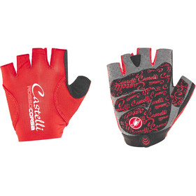 Castelli Rosso Corsa Pave Cykelhandsker Damer, red